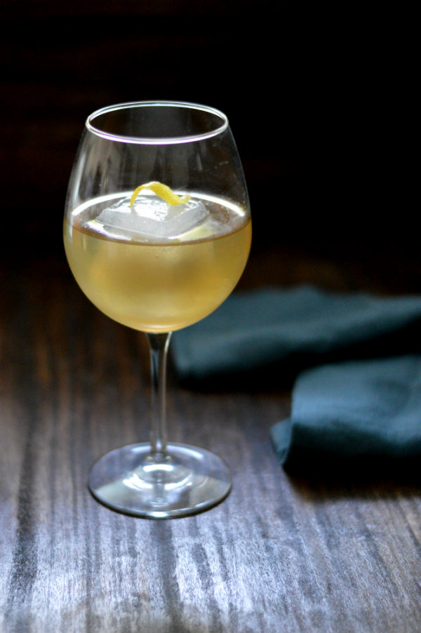 The Sherry Sangalee Cocktail uses dry sherry, Cointreau and simple syrup to make the most refreshing drink perfect to start out any meal |CaretoPair.com