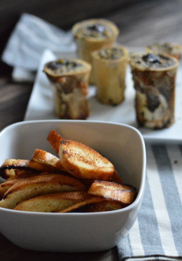 Homemade croutons for roasted bone marrow |Recipe for Roasted Bone Marrow | Wine Pairing Syrah | Roasted Bone Marrow is a Superfood to help heal illness!