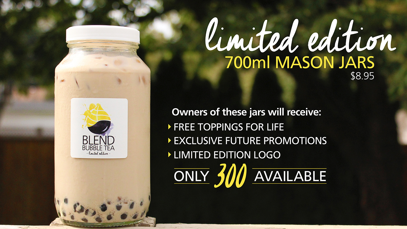 Limited Edition Mason Jars Available