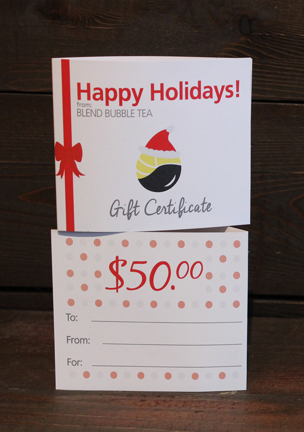 Blend Gift Certificate
