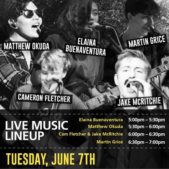 Live Music June 7 Line-up