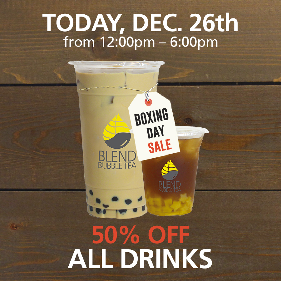Blend Bubble Tea – Boxing Day Sale