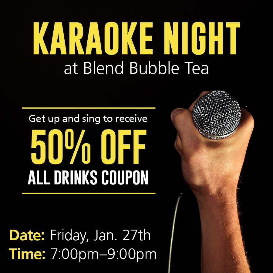 Blend Bubble Tea –Karaoke Night