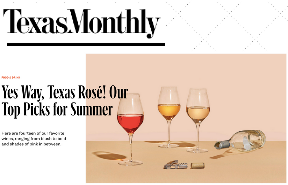 Rosato featured in Top Picks, May 2018