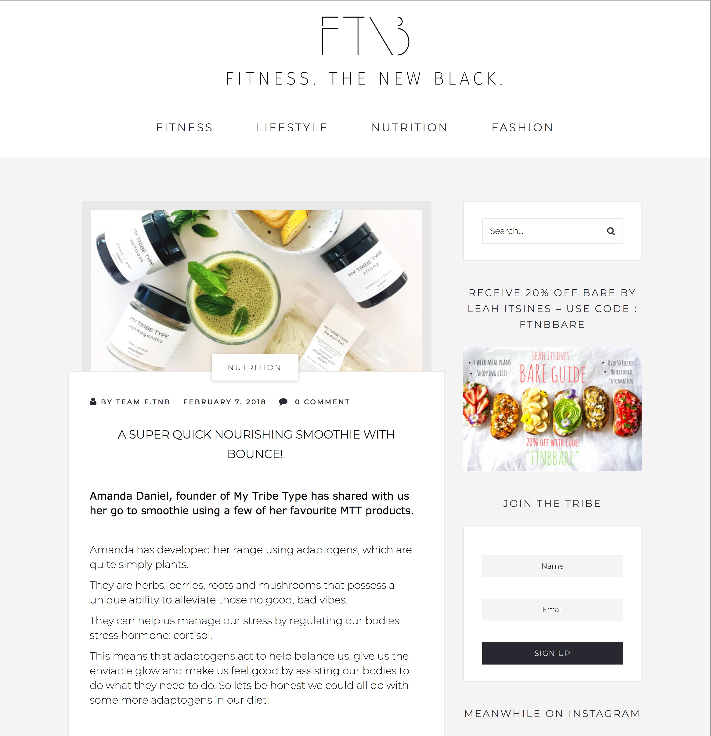 Fitness. The New Black
