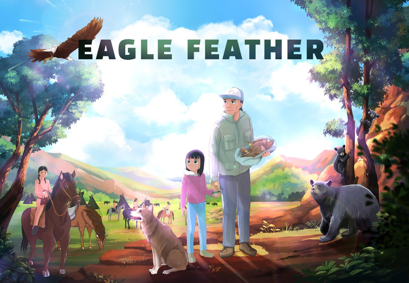 Eagle Feather - Directed by Pasquale Ellery Encell and Steve EncellEagle Feather is an animated, family friendly adventure which is based on real events and follows a young Native American girl and her father through the wilds of the American Northwest as they use all but forgotten traditional lore and shamanism to find a poacher who has been killing their spirit animals, American Eagles.