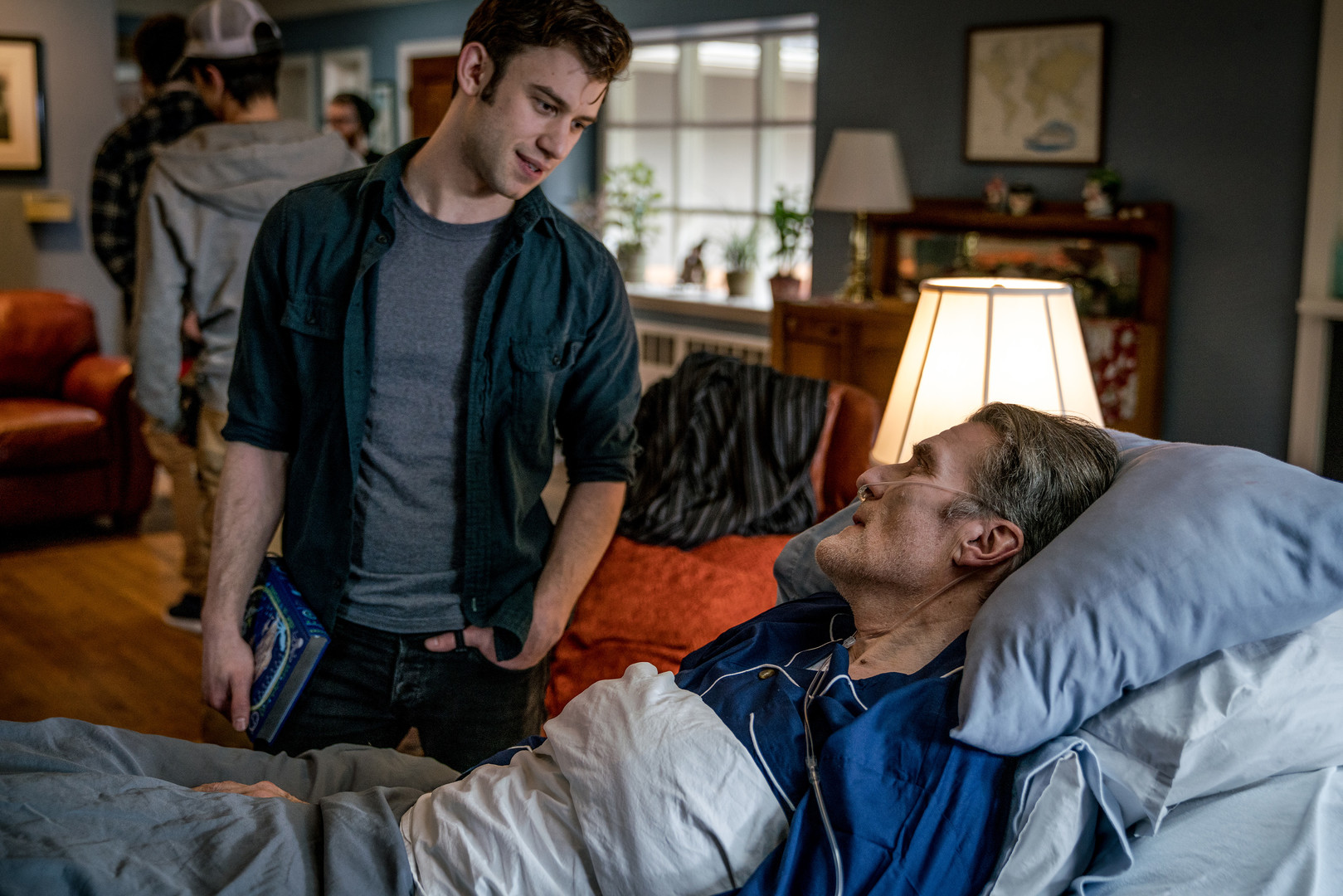 Old Blue Eyes Ain't Nothing - Directed by Shelby SmoutAn elderly man on his deathbed has accepted his fate, but his visiting grandson diverts the conversation from the present by reminiscing on the past.