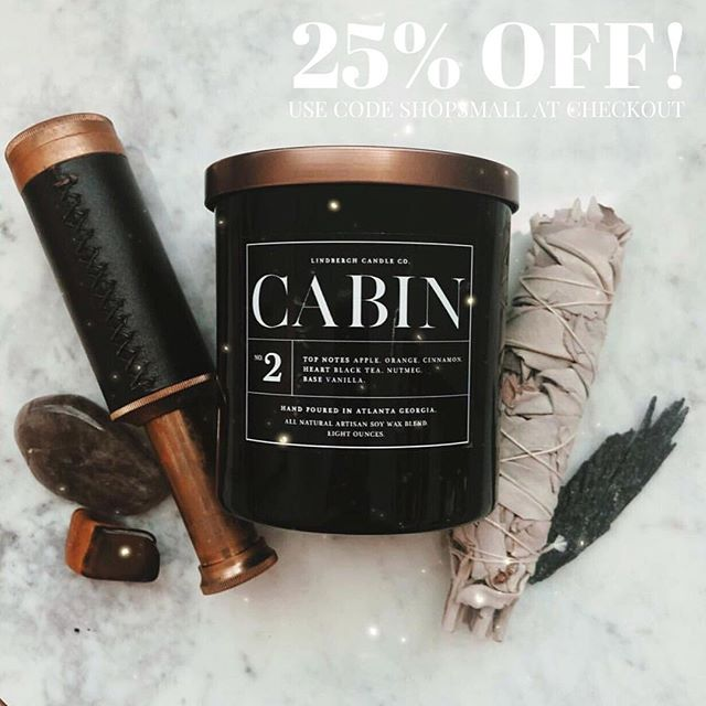 Last chance to grab your Lindbergh Candles this year!!! Use the code SHOPSMALL to get 25% off your entire purchase through the rest of this month!! Orders will arrive before Christmas!!