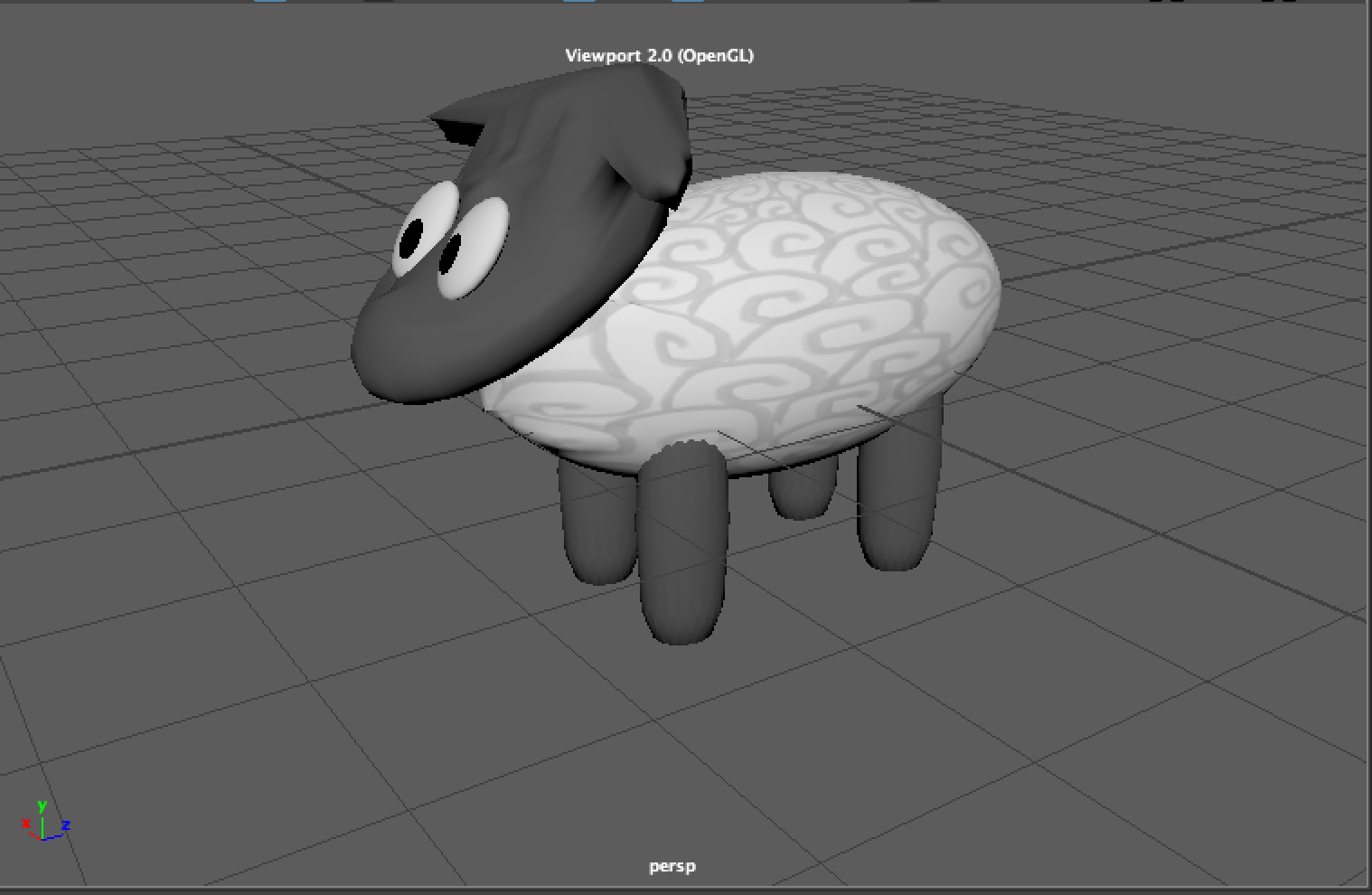 3D sheep - the first modeling I made for Jolly Ranchers