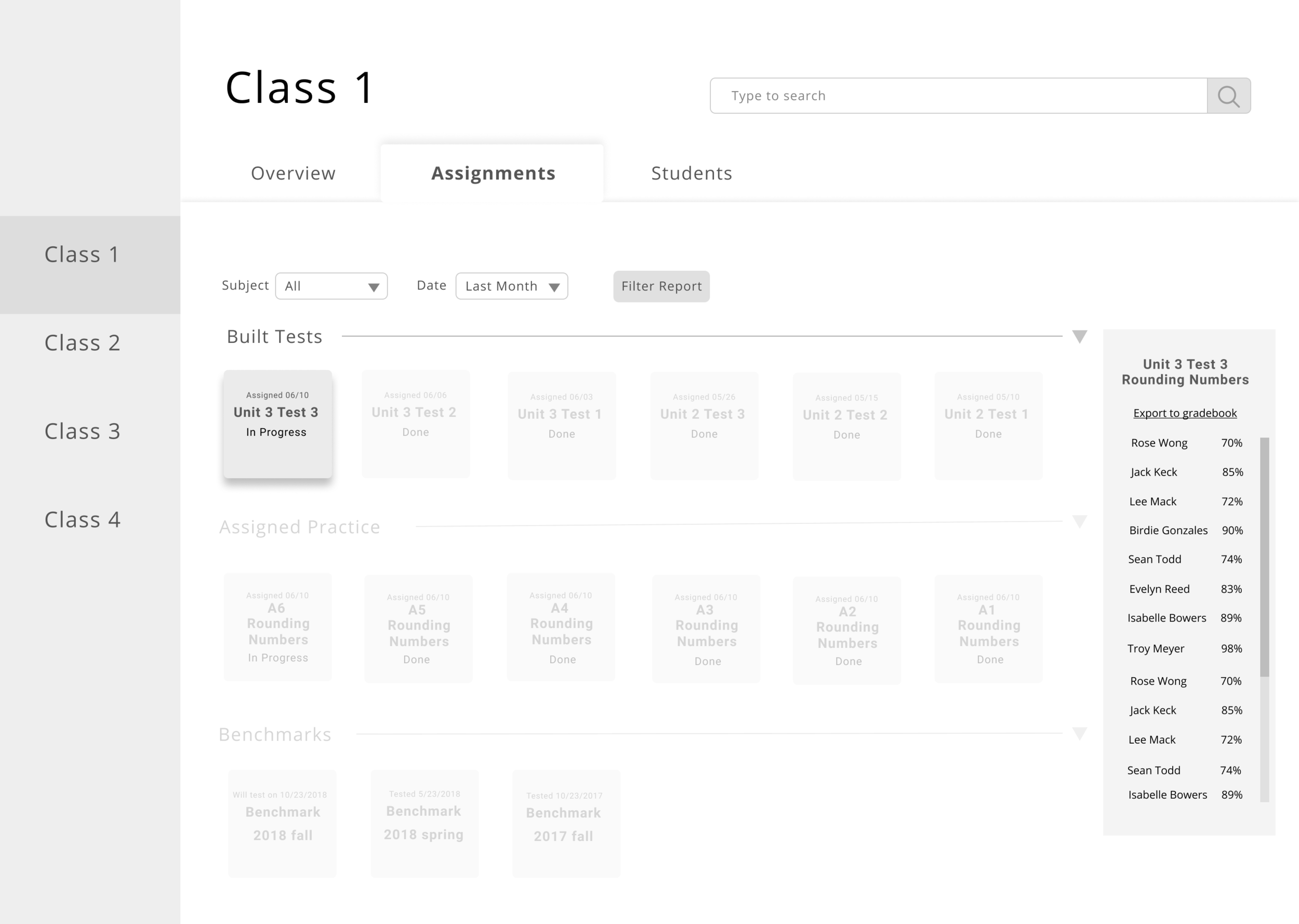 Assignments UI 2.0