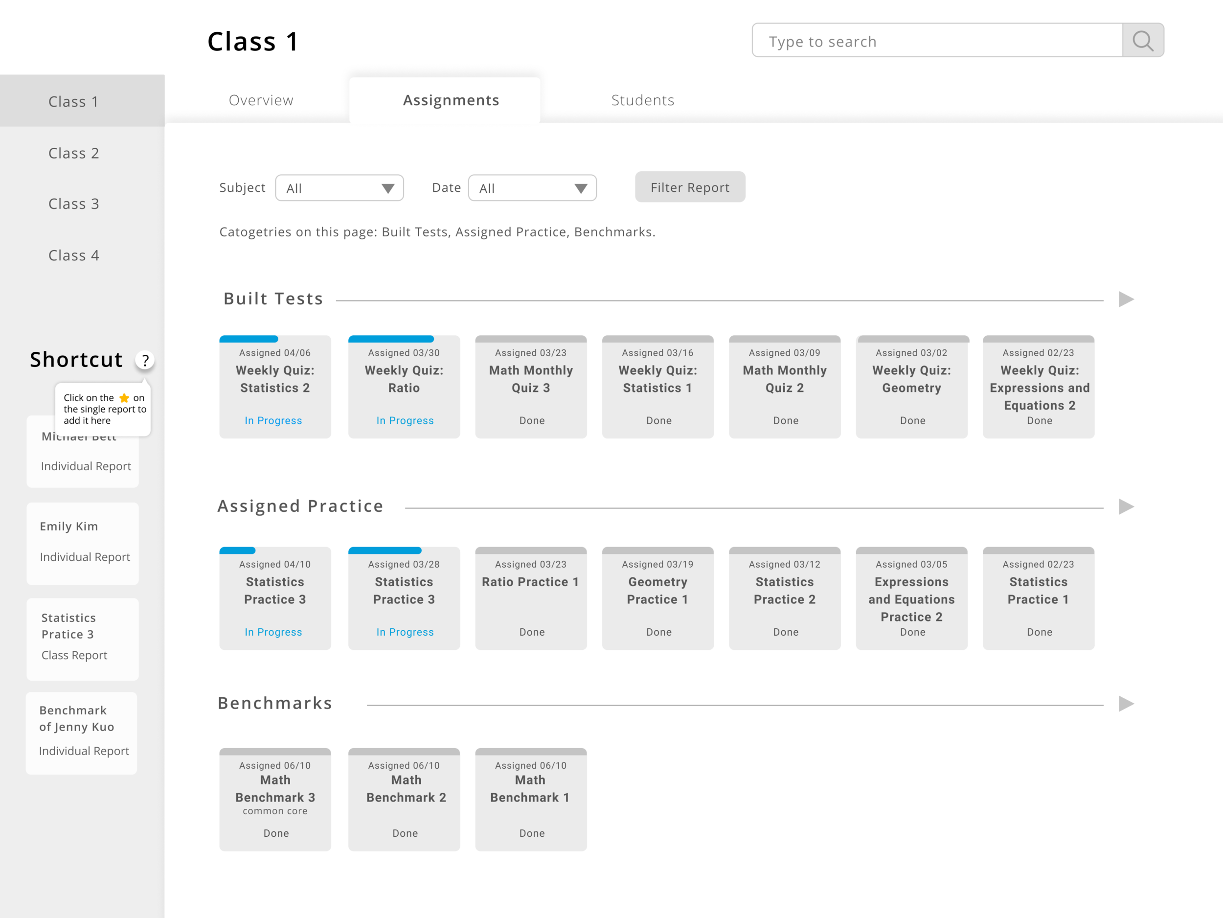 Assignments UI 3.0