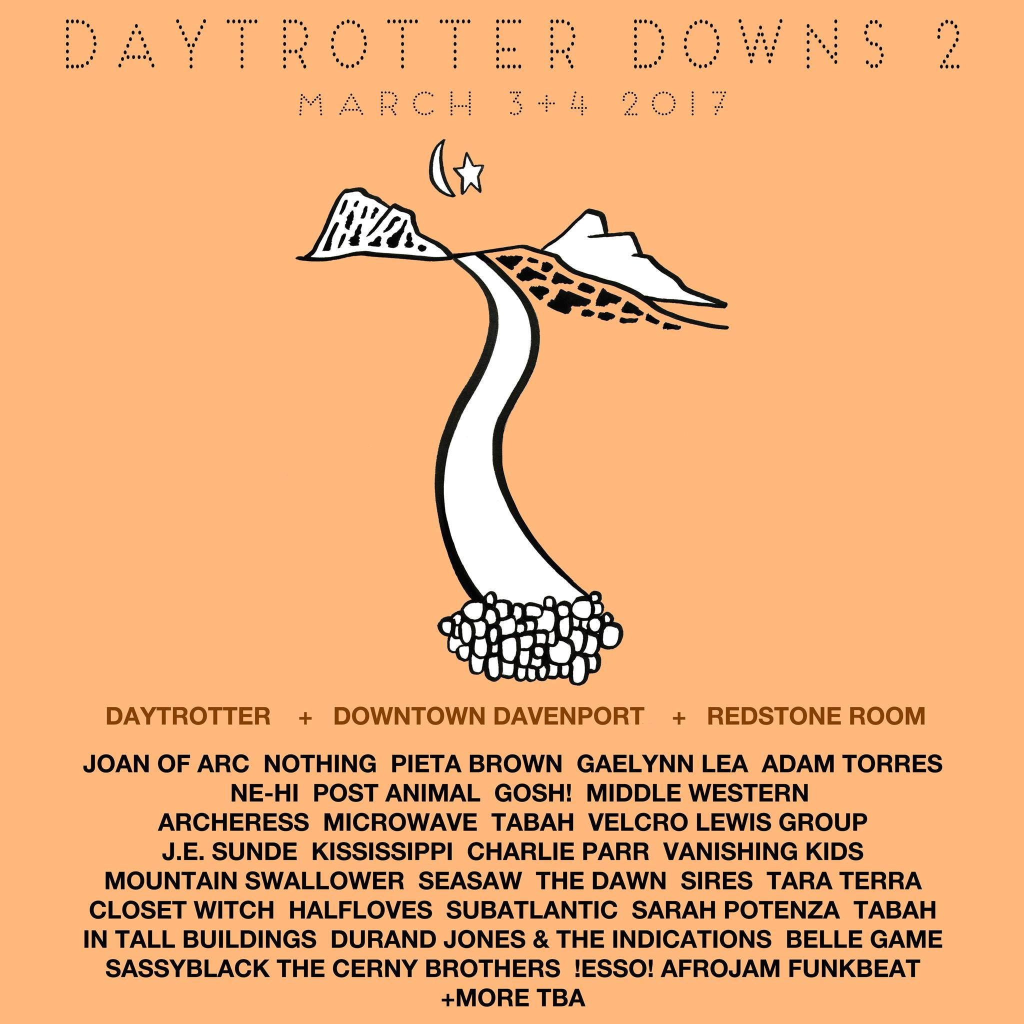 Daydrotter Downs Lineup Poster