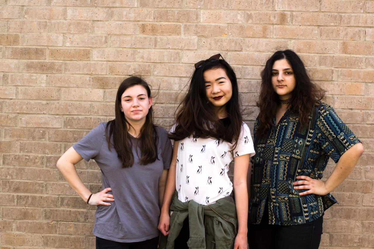 Play The Ace is Iris Chang, Dena Asaad, and Molly Lammes  Photo Credit Brelyn Bashrum