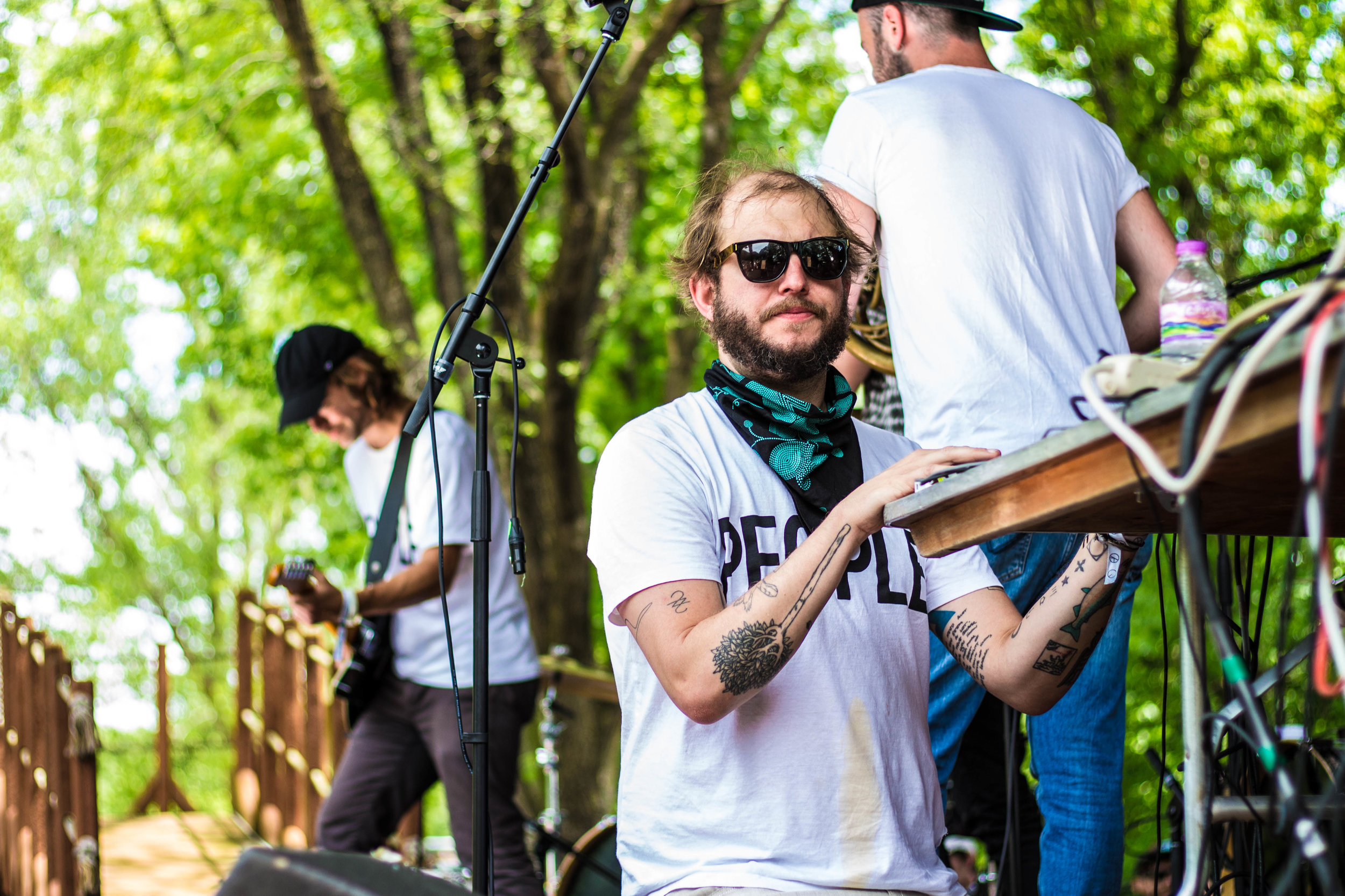 Eaux Claires curators Justin Vernon and Aaron Dessner performing People Mixtape Vol. 2