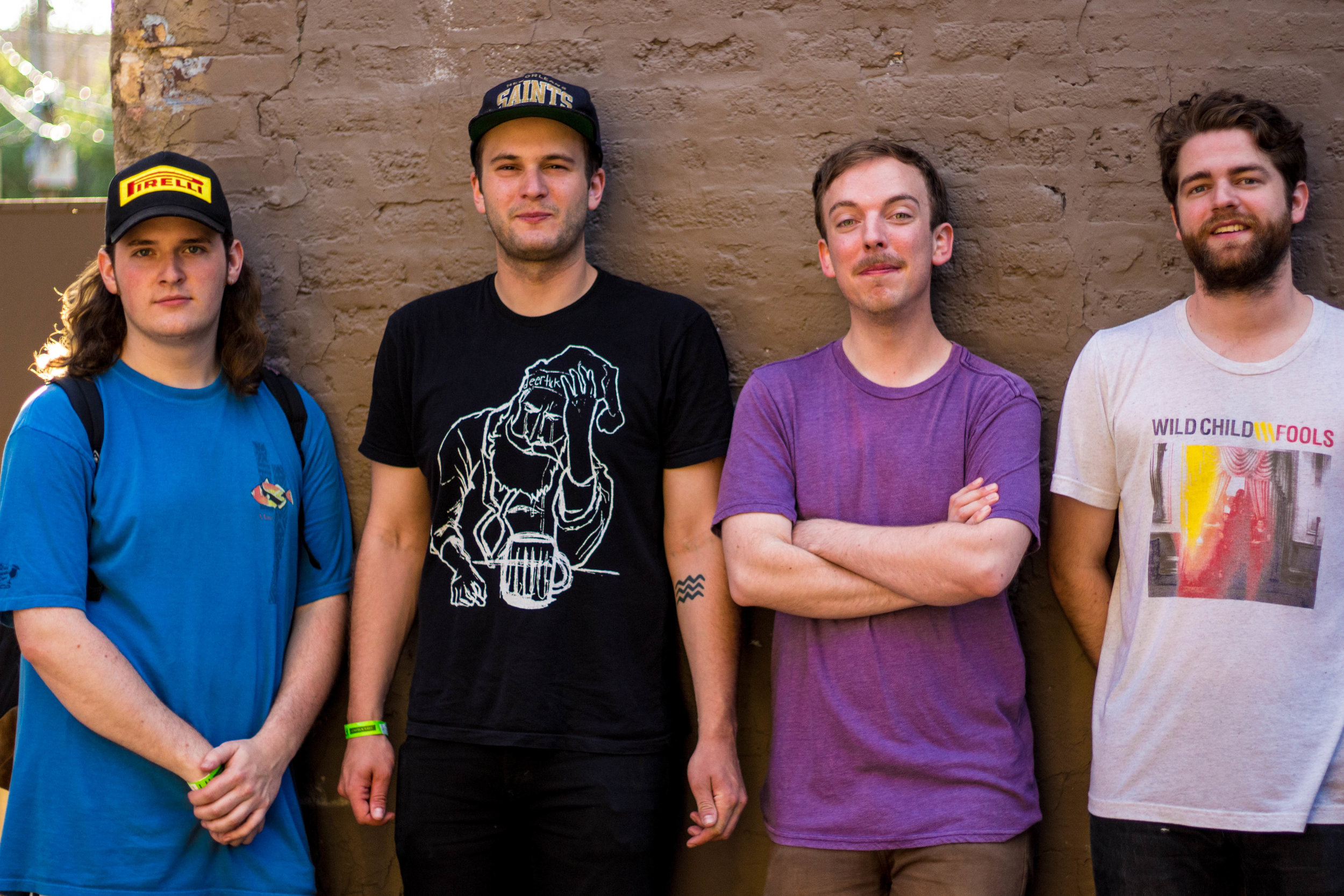 Twinsmith at Lincoln Hall on June 22nd, 2017  Left to Right: Jake Newbold, Matt Regner, Bill Sharp, and Jordan Smith.