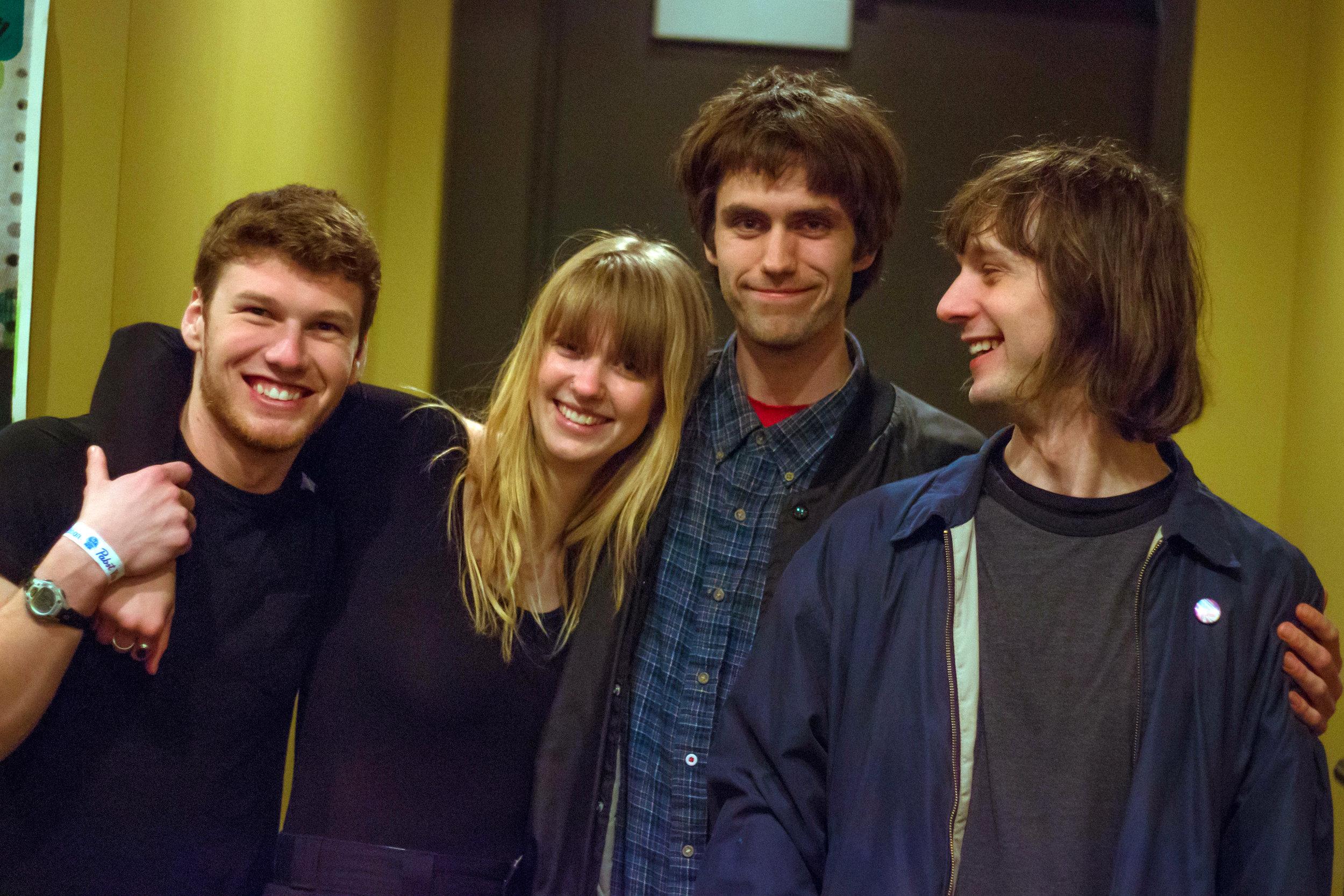 Slow Pulp is Teddy Matthews, Emily Massey, Henry Stoehr, and Alex Leeds