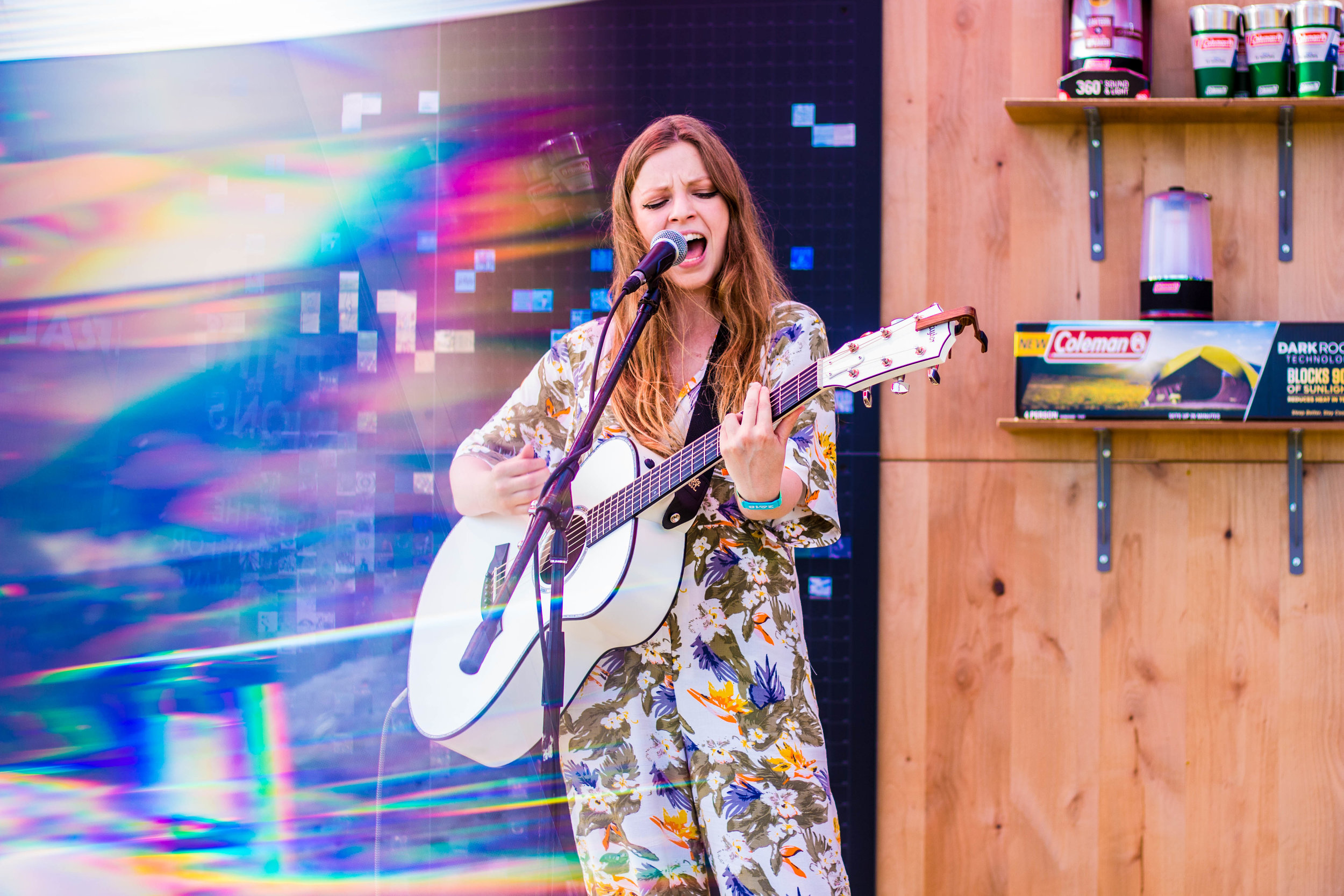 Jade Bird at the Coleman Camp Out experience