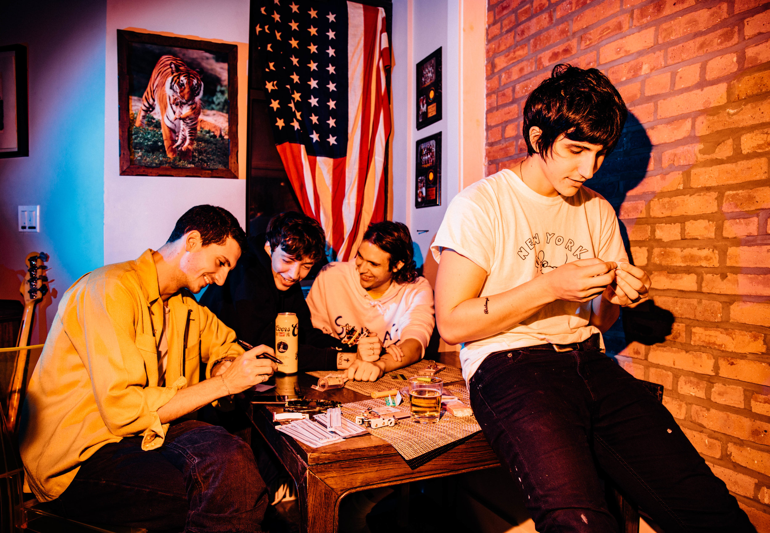 The Britanys are Lucas Long, Lucas Carpenter, Jake Williams, and Steele Kratt // Photo By Aysia Marotta