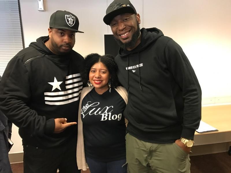 Lifestyle Bloggers V8ga & Kimberly Knight with Producer, DJ, & Professor 9th Wonder