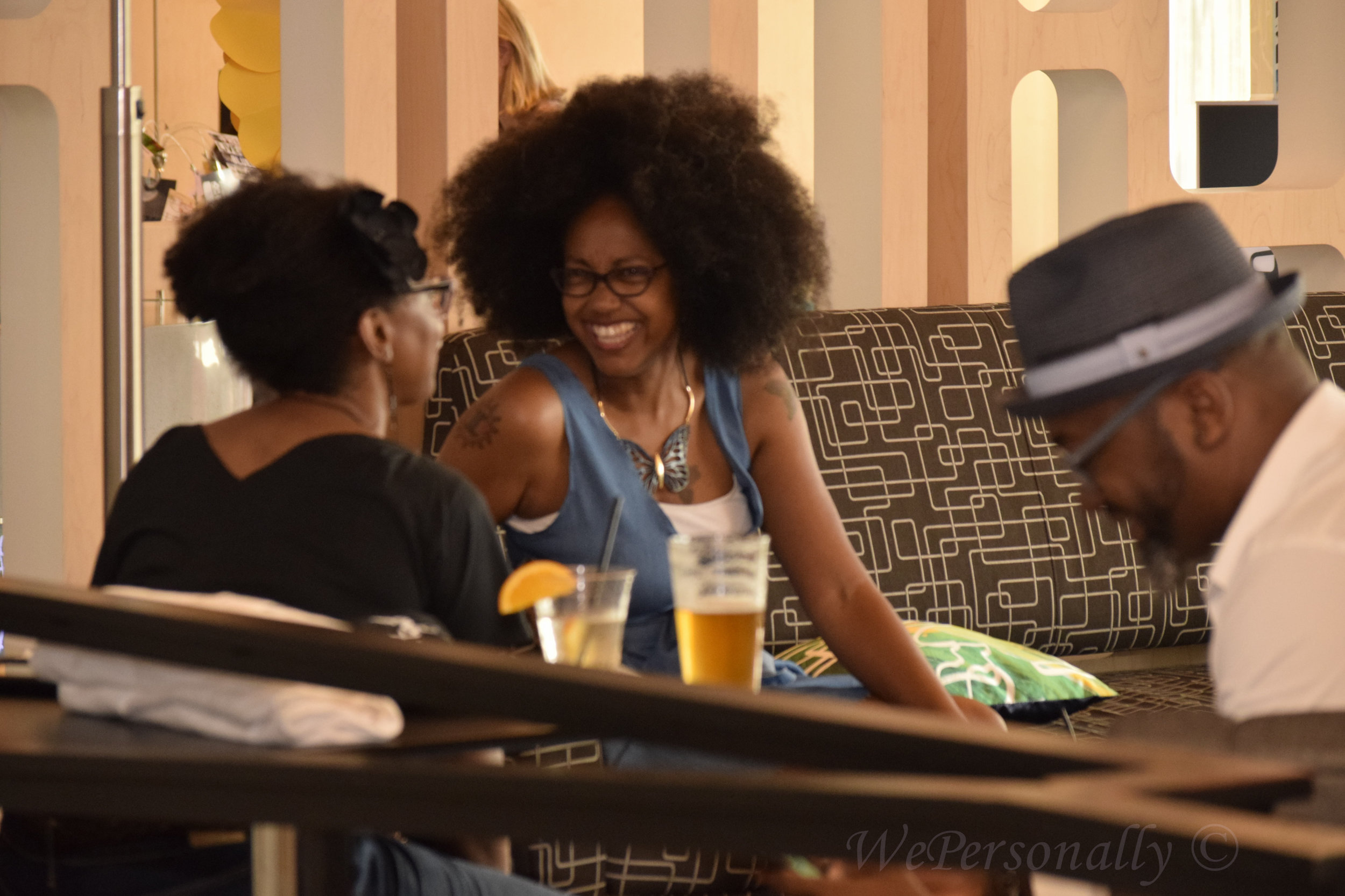 All smiles from the beautiful Adrienne Charleston and yes that's the fabulous fro you saw at the Common concert on stage!