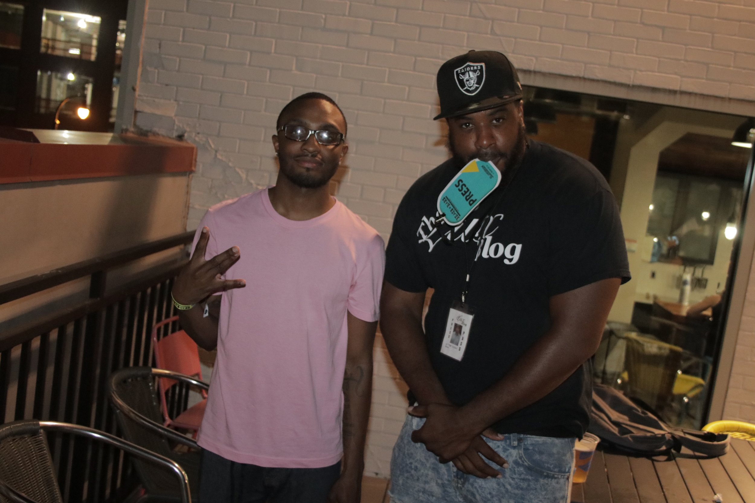 Pictured: @Gomillz704 & V8ga at the AU Rooftop Event