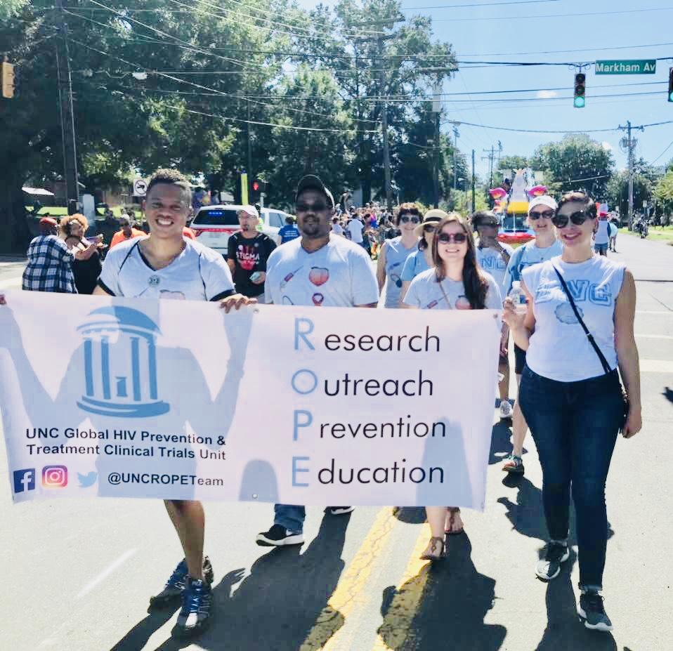 Pride: Durham 2018 Parade - Far right (Blogger Gabrielle Evans of Minority Sex Report)