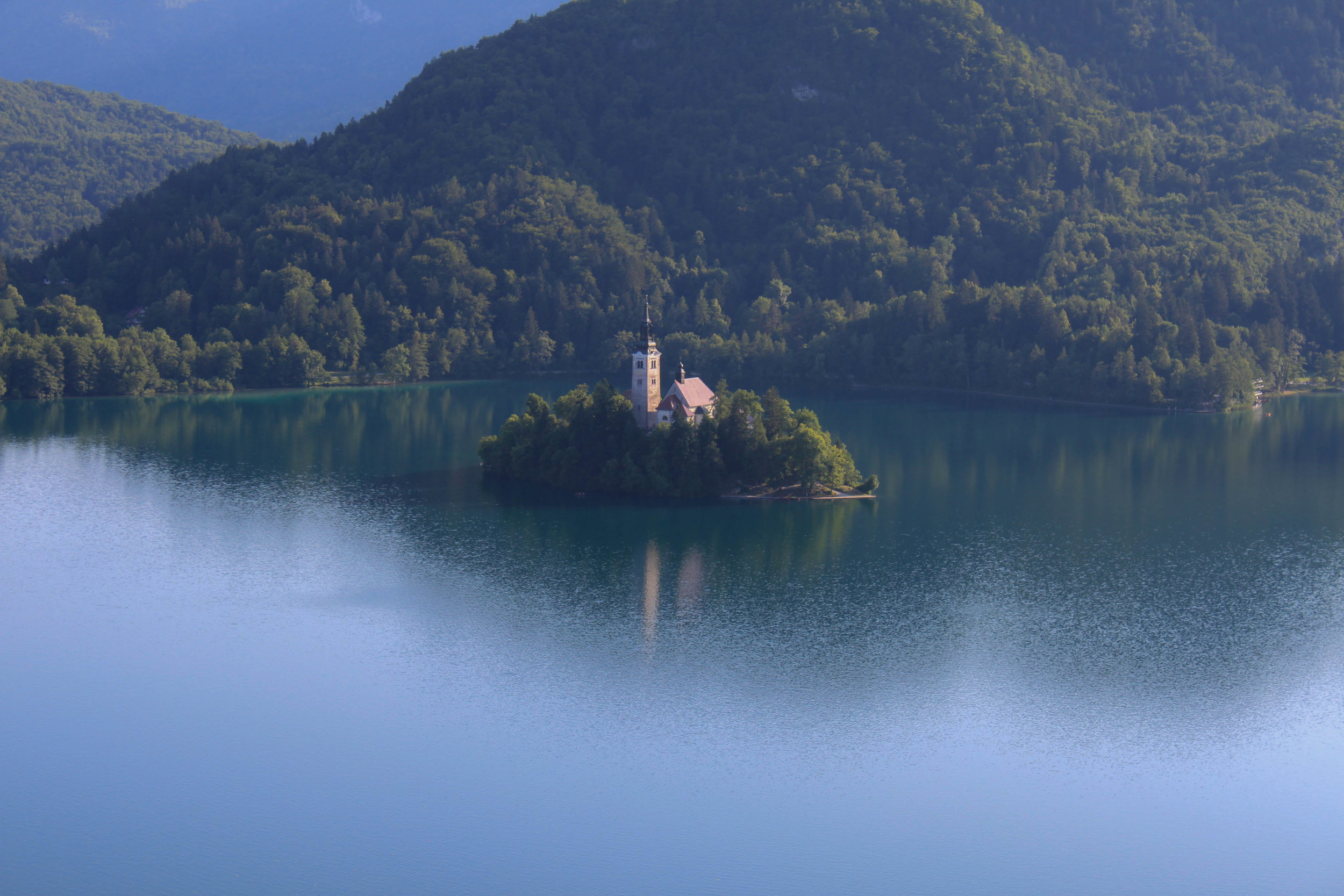 View of Bled Castle from Blejski Grad
