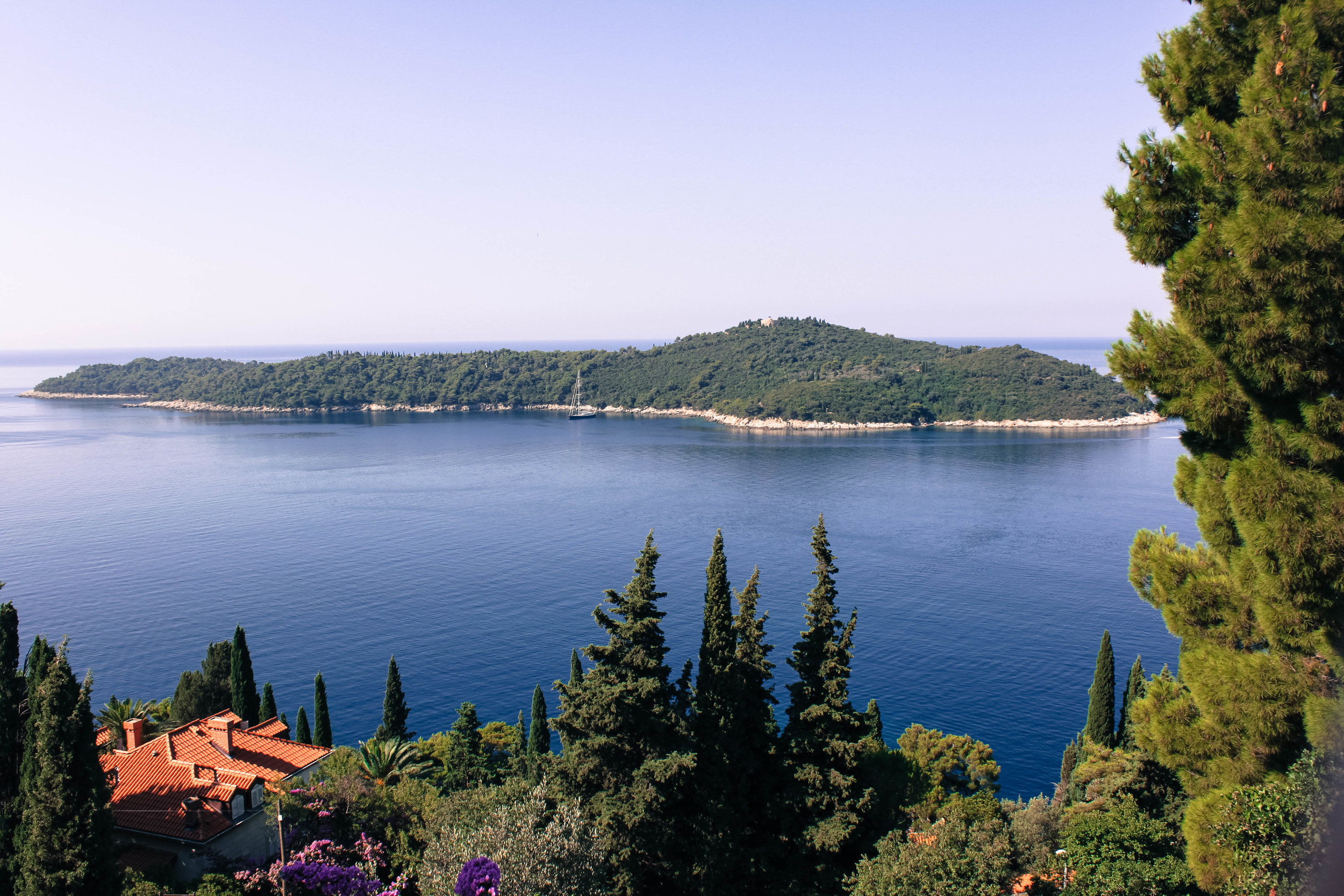Looking out to Lokrum