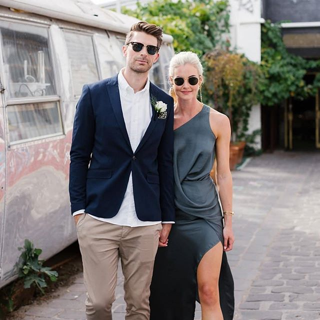 Goddamn, Krissi and Sam 😎 If this is how good they look for their small civil ceremony in Melbourne, imagine what their big wedding in Croatia is going to be like! Beautiful photos, as always, by the wonderful @hellochloemay 🧚 (Bonus photo: running into one of my Old Married Couples, @eggbort and @cdonnellon 😍)