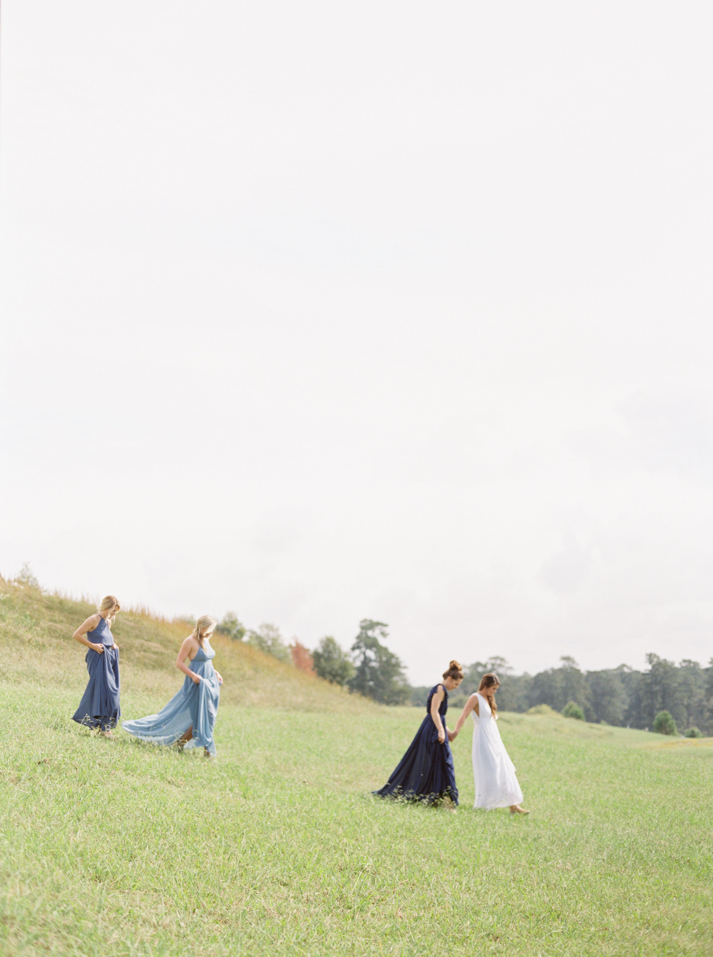 bride and bridesmaids, bridesmaid dress  inspiration, Alabama wedding photographer, film wedding photographer, birmingham wedding photographer, fine art wedding photographer, la belle vie events, meghan murphy photography,