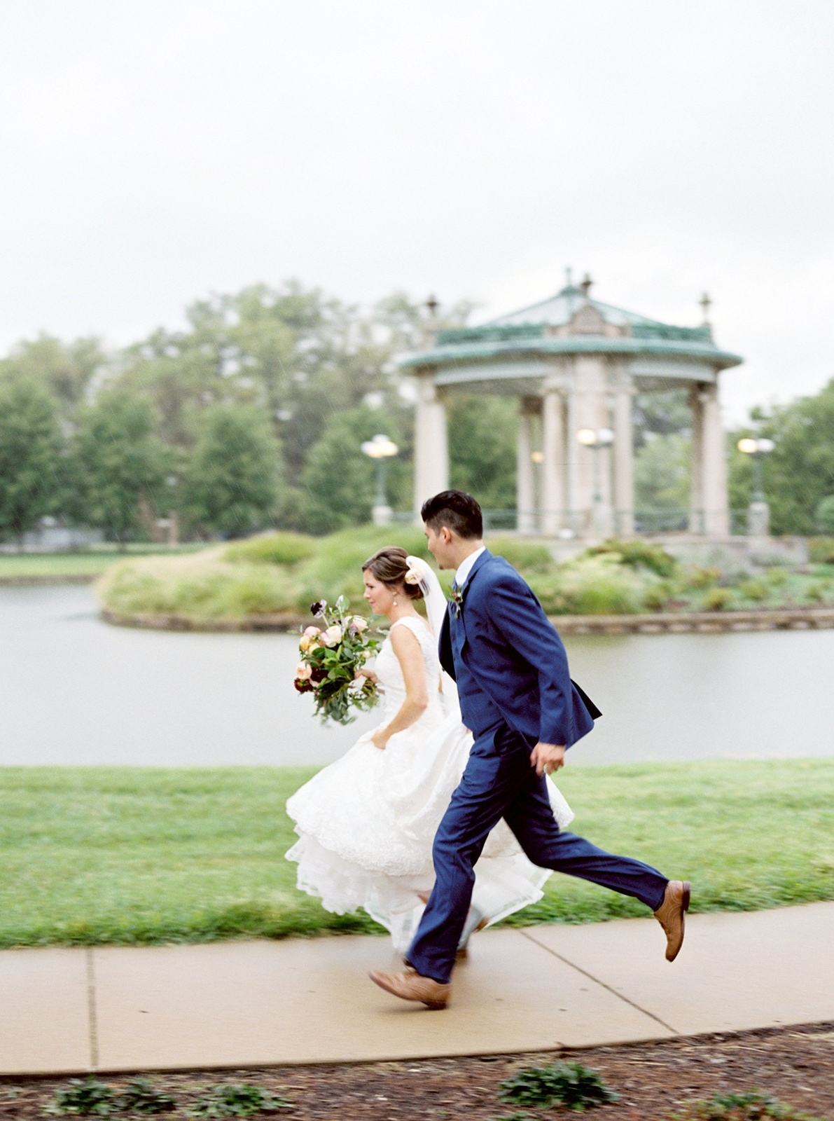 The Muny, St. Louis wedding photographer, Midwest Wedding photographer, fine art wedding photographer, birmingham wedding photographer, film wedding photographer, alabama wedding photographer, rainy wedding day, photojournalistic wedding photography, lifestyle wedding photos,