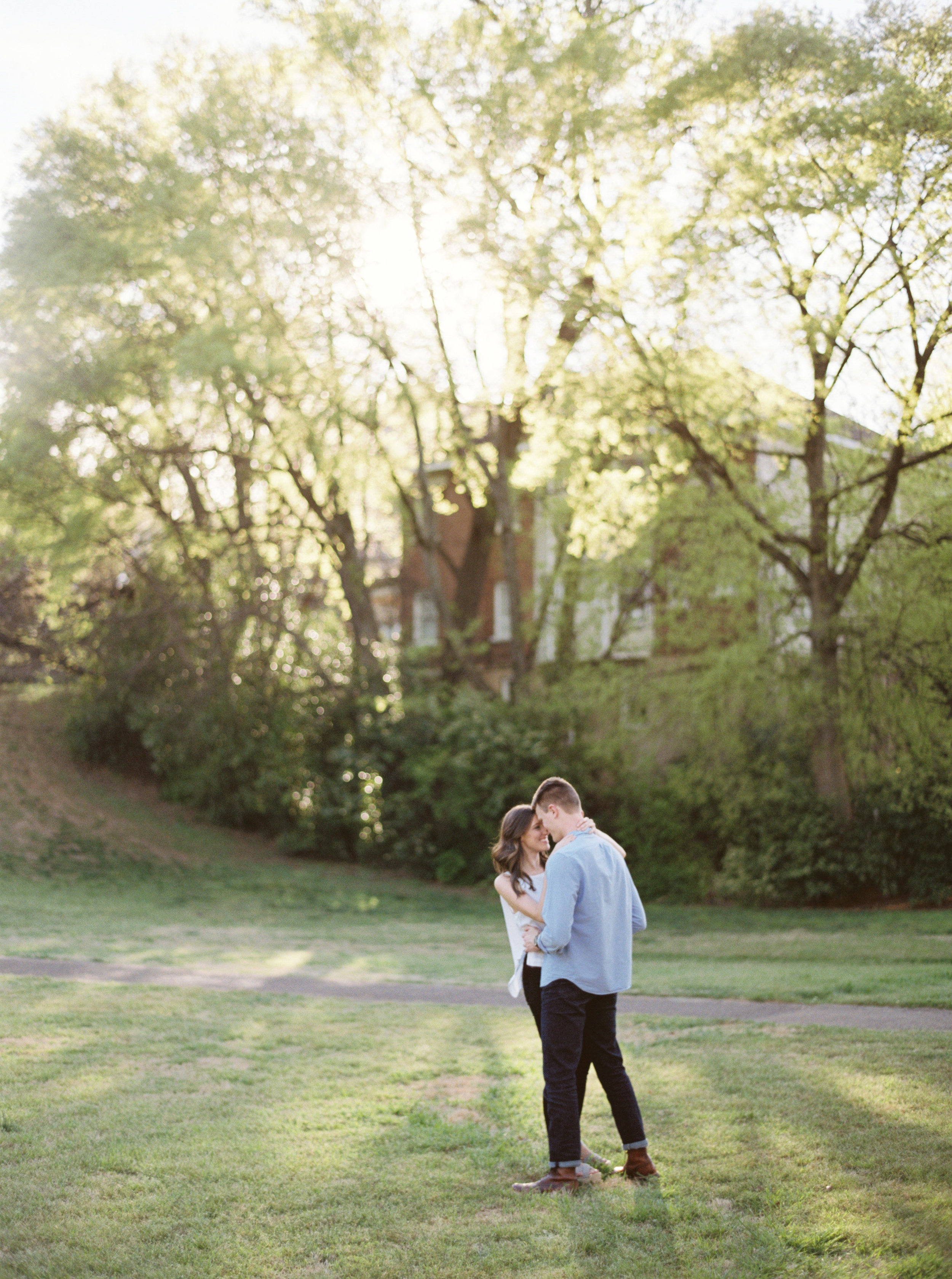 Choosing the perfect spot for your engagement session in Birmingham, Alabama, or any where for that matter. Film and fine art wedding photographer, Meghan Murphy Gray, is based in the southeast and places an emphasis on genuine and authentic. Your story is your own. Your engagement is your own. Your pictures should be your very own… and not a replica of someone elses. Here's how to make sure your location isn't cheesy or too trendy so that your photos feel timeless and have lasting value.