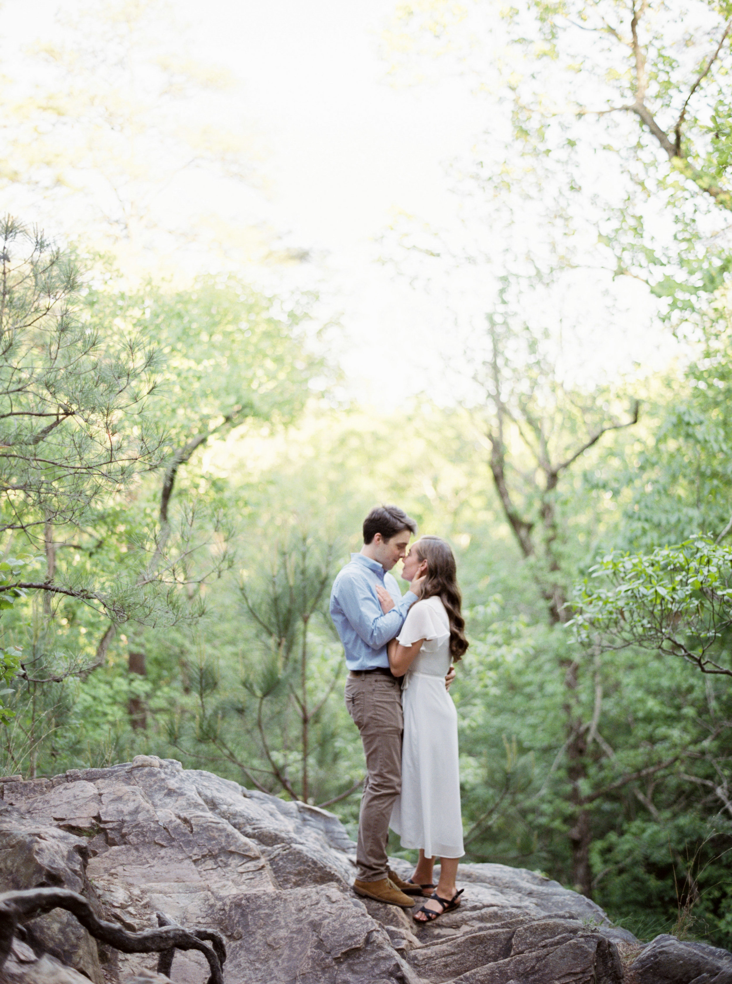 Oak Mountain State Park, Peavine Falls, Birmingham overlooks, Meghan Murphy Photography, Birmingham Engagement Session, Where to take engagement pictures in Birmingham, AL, Alabama wedding photographer, Alabama film wedding photographer, Birmingham film wedding photographer, Birmingham wedding photographer, Birmingham fine art wedding photographer, outfit ideas for engagement session, authentic engagement photos, romantic engagement photos,