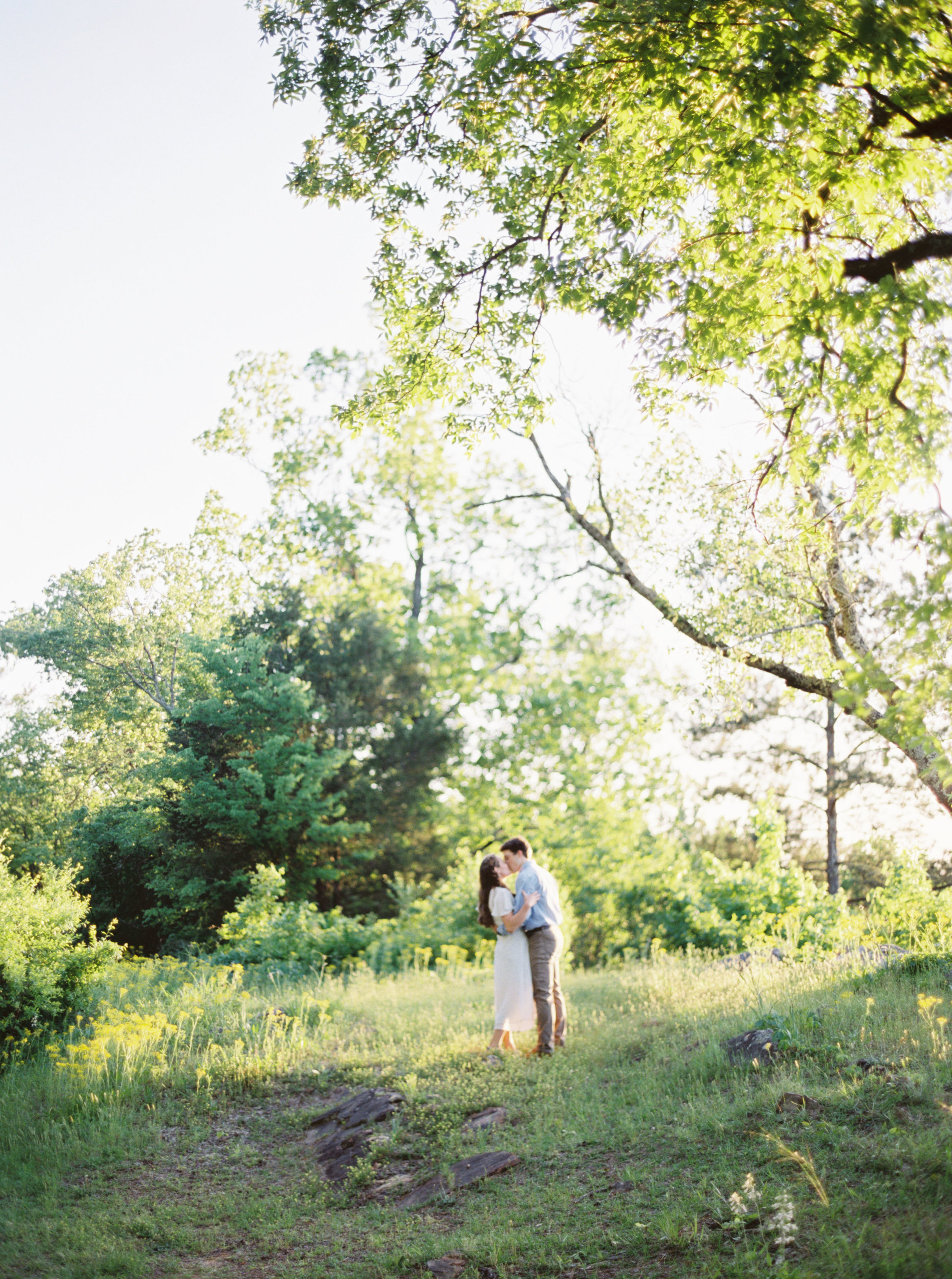 Oak Mountain State Park, Peavine Falls, Birmingham overlooks, Meghan Murphy Photography, Birmingham Engagement Session, Where to take engagement pictures in Birmingham, AL, Alabama wedding photographer, Alabama film wedding photographer, Birmingham film wedding photographer, Birmingham wedding photographer, Birmingham fine art wedding photographer, outfit ideas for engagement session, authentic engagement photos, romantic engagement photos, Lifestyle engagement photos, wildflowers