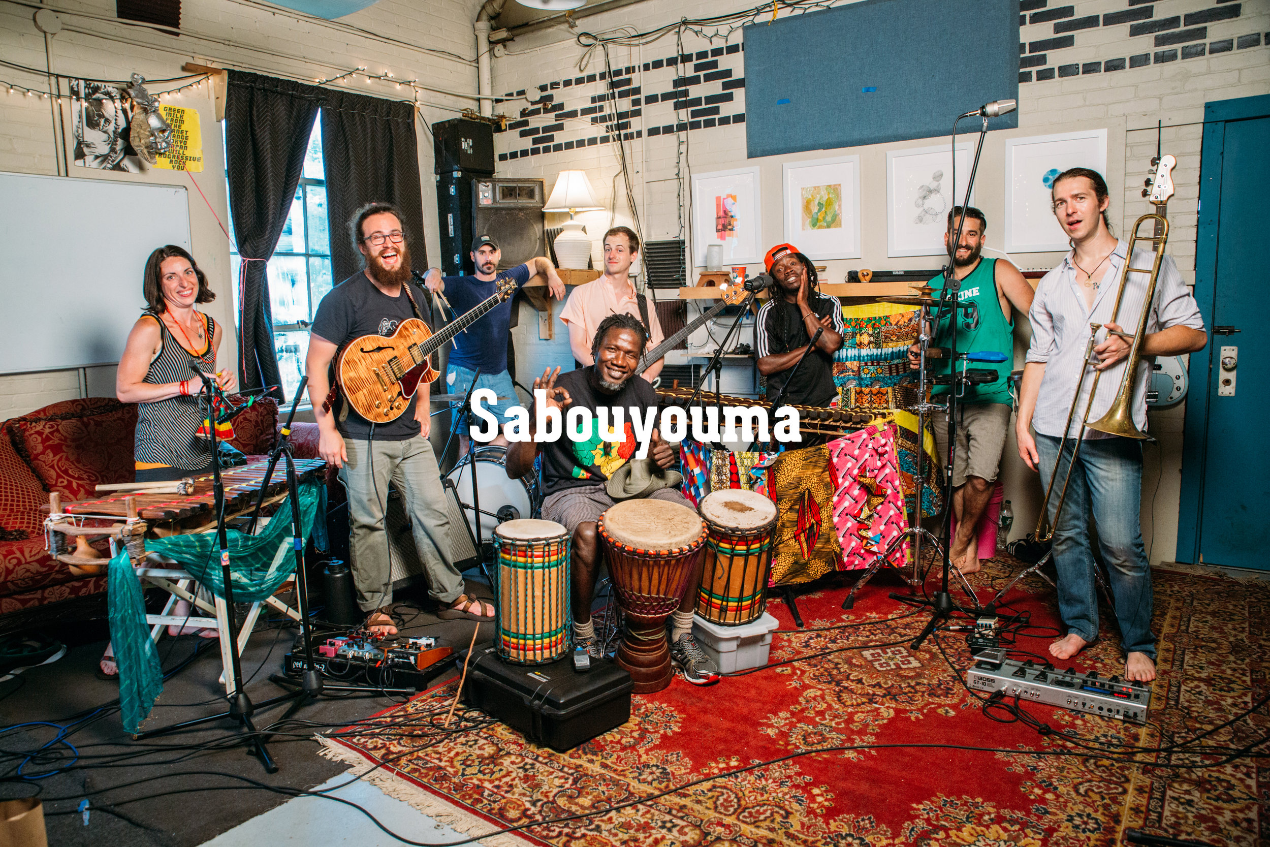 Sabouyouma is a Burlington, Vermont based Afro-Funk band led by Guinean-born Balafonist, Ousmane Camara. They combine traditional West African dance music with contemporary funk and reggae.