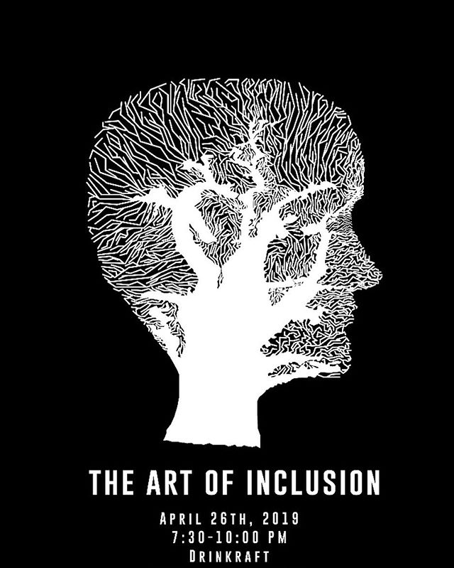 Art of Inclusion ‼️ Join us for another incredible event at @drinkraft this Friday at 7:30PM We believe all voices and identities deserve to be included, which is why we're hosting a creative artistic showcase aimed at giving all voices an inclusive space to represent themselves. Come and empower creatives with us!