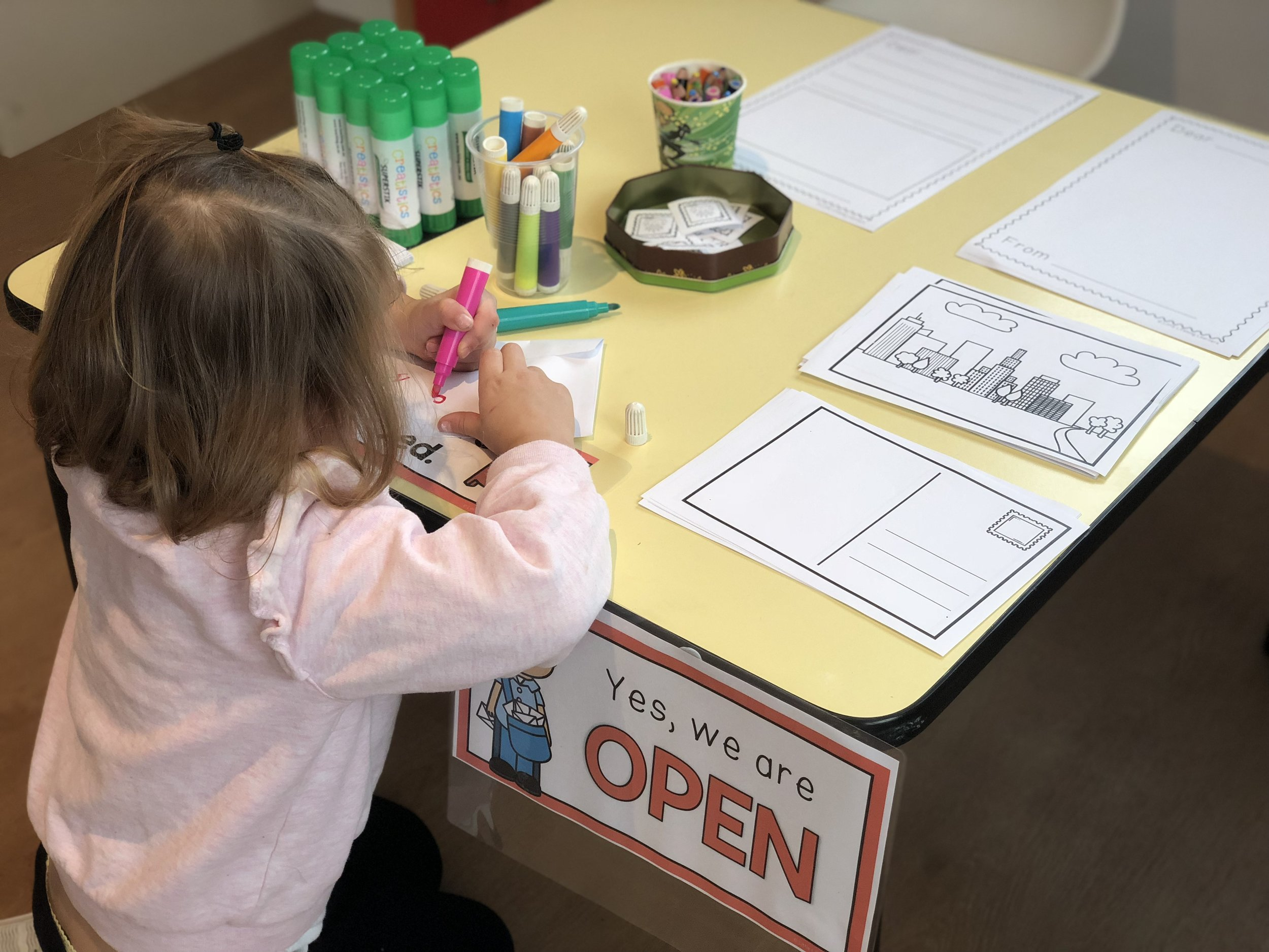 Making use of our letter writing station