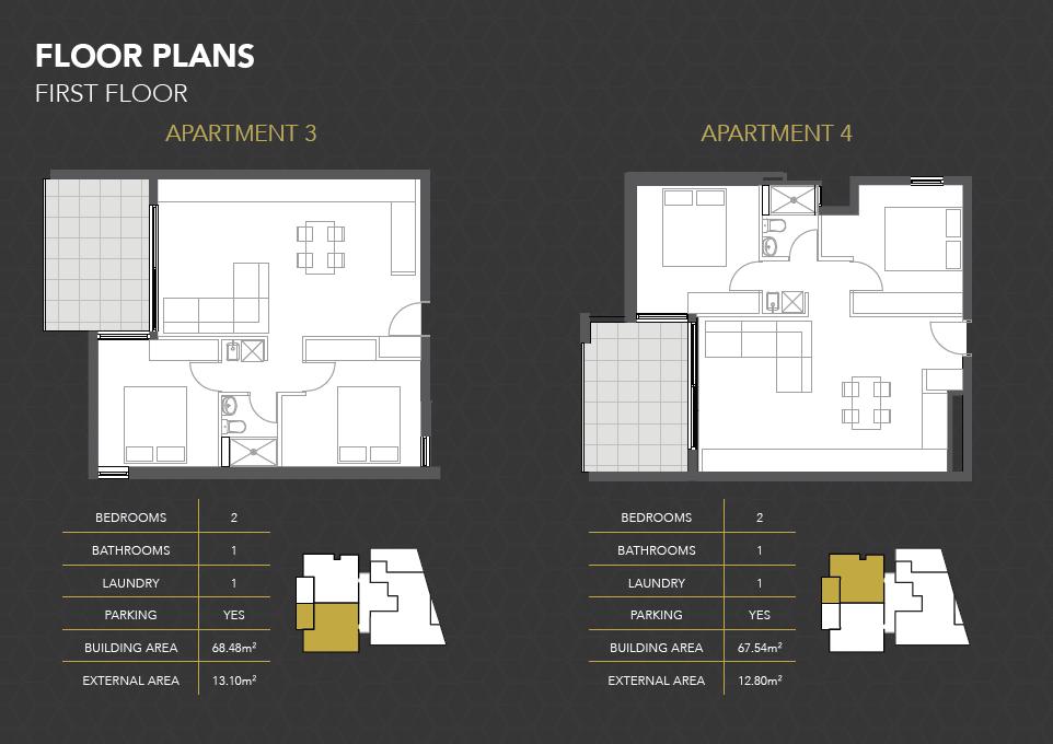 Apartments 3 and 4 - North Facing