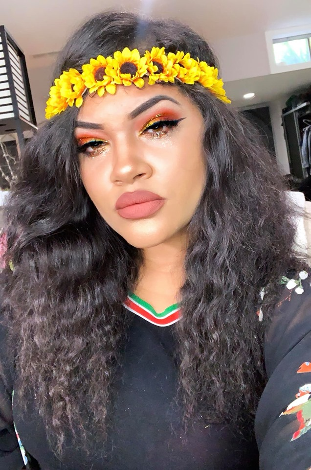 Yasss SUNFLOWER LOOK 🌻  Did you get a chance to tune in to my live yesterday on my  FB BEAUTY PAGE ?! WOULD YOU TRY this look for spring/summer!?  🌻Foundation- @Nars  Natural Radiant Longwear Foundation in Vanuatu  🌻 Eyes- Primer - Limelife Concealer in shade #3  Shadows-  Limelife by Alcone shadows-  @danessa_myricks Creme Matte pallete &  James Charles Morphe  Brushes pallete- Code James, 518, Bee 🌻Glitter Liner & Lower lash glitter- @maccosmetics Reflects Bronze & @nyxcosmetics 08 Bronze 🌻Eyeliner-  Limelife By Alcone Perfect Eyeliner Pen   🌻 Lashes- @ lillylashes  in Mykonos 🌻Mascara- @sephora Lashcraft 🌻 Lipstick-  Limelife by Alcone Enduring Lip Color in Angel Food  , lip liner is Mac Chestnut 🌻 Highlight - @anastasiabeverlyhills Loose Highlight Powder is Sunset Aura 🌻 Brows- Shaped with Limelife by Alcone concealer in shade #3 FILLED in with @ kyliecosmetics Brow pomade in Ebony  🌻 Undereye concealer- Limelife by Alcone Concealer #3  🌻 Bronzer-  Limelife  by Alcone Perfect Bronze in #2  🌻 Setting Powder Under Contour-  Kylie Yellow  Setting Powder  P.S- Morphe & Kylie have  AFTERPAY  YASSS! You can split up your total in two 4 installments for free. No credit check either! I use it all the time. Some of my fav companies offer it now. Girl if you didn't know now you do!! So bomb!!!!!! Thank me later 😂😝🥰