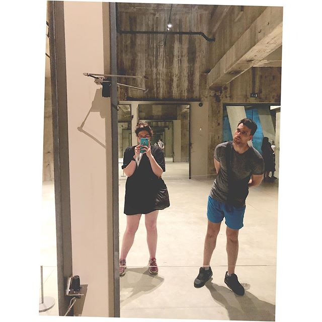 Rebecca Horn in the tanks at the Tate modern. #galleryselfie