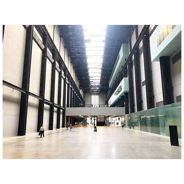Standing in the turbine hall imagining all the works that would have been here. #saturdayatthetatemodern