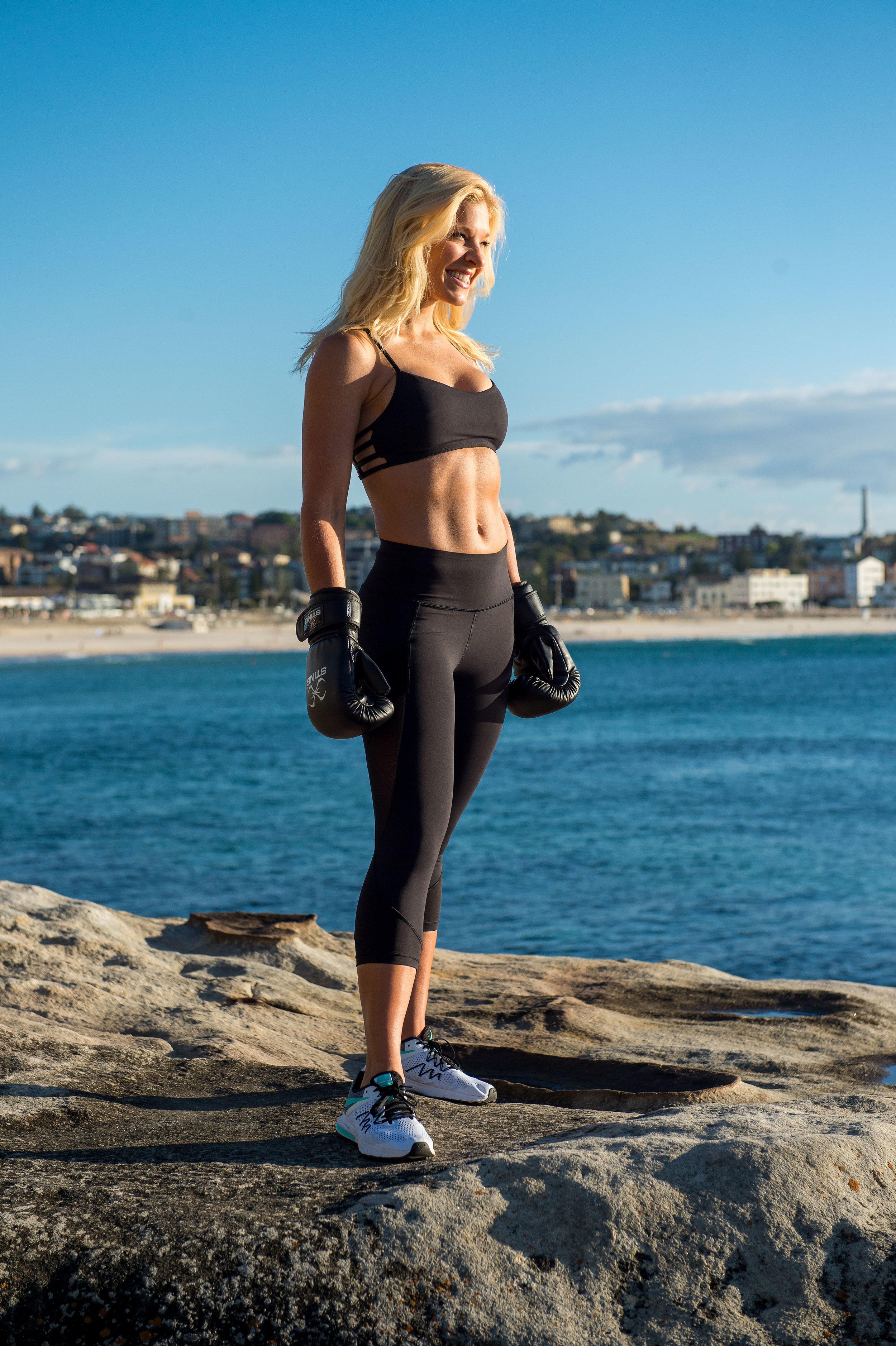 Anna Kooiman Boxing Gloves on Bondi