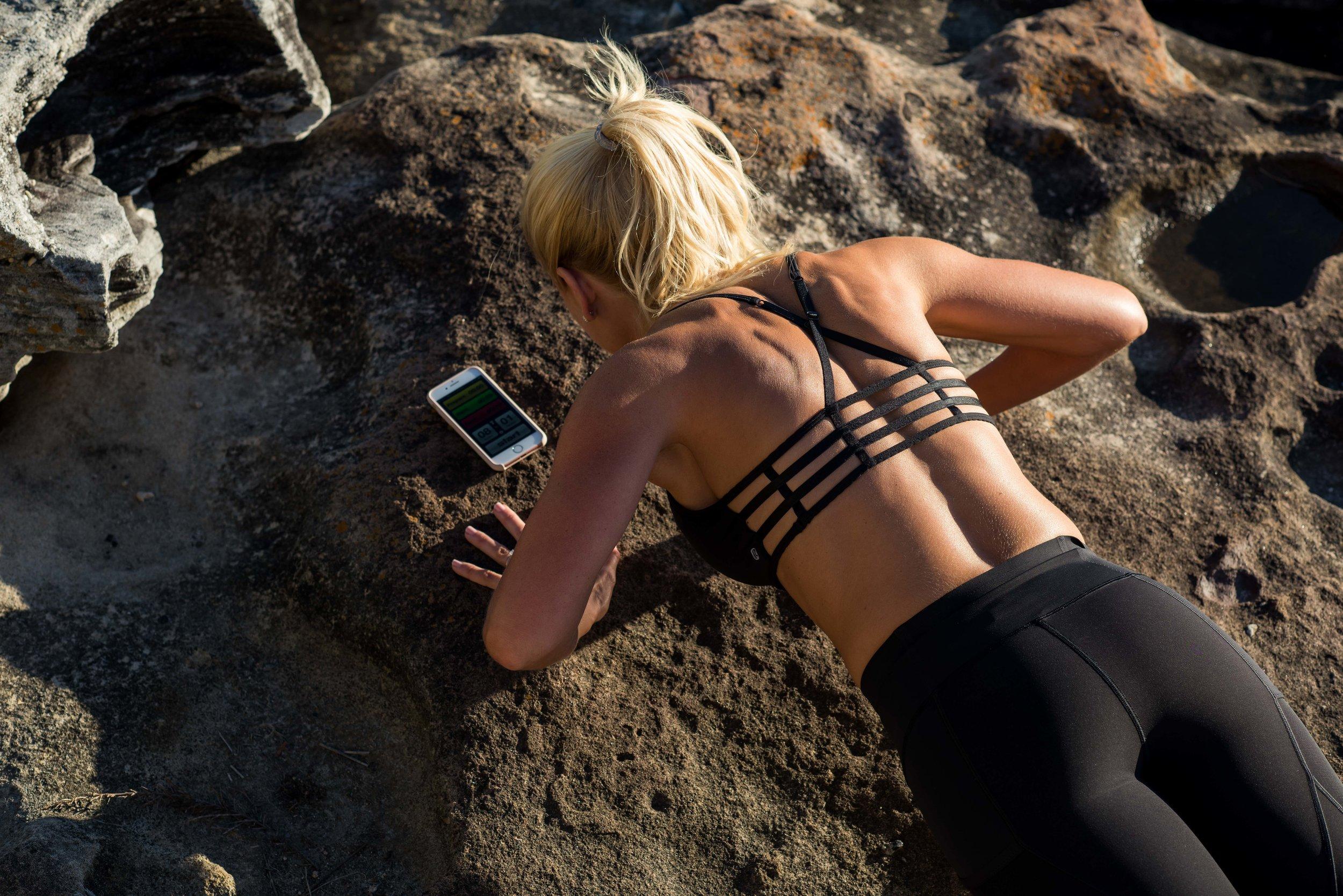 Anna Kooiman Black Activewear Pushups