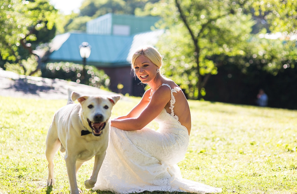 Happy Boy Sir Baxter Bear with Mama Anna Kooiman on Wedding Day