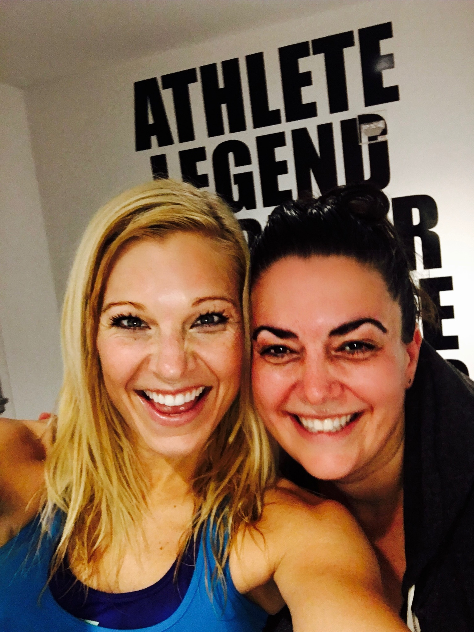 Sweaty and smiley after a Soul Cycle class in New York City with a girlfriend! #WestVillage