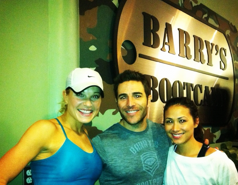 Super sweaty selfie with Barry's Bootcamp CEO,  Joey Gonzalez  after a dope class in NYC!