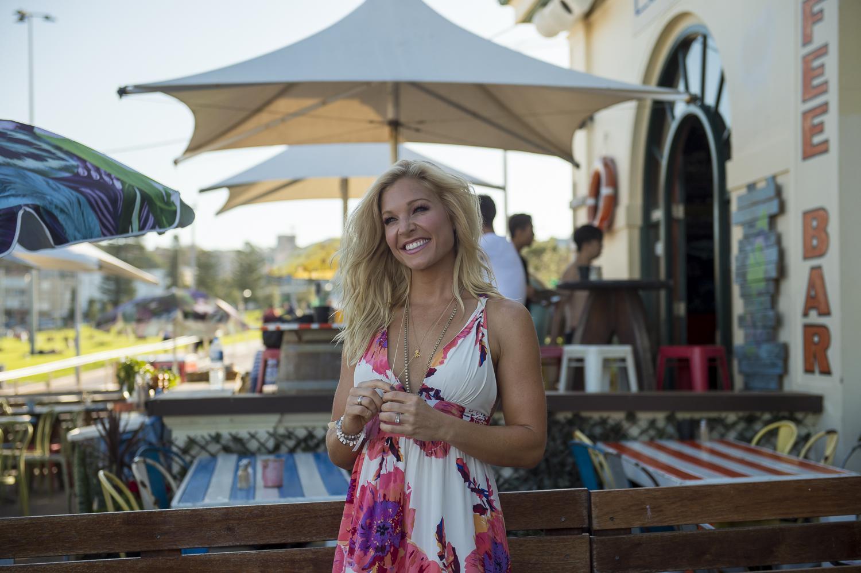 Anna Kooiman Bondi Beach Closer Shot Yumi Kim Maxi Dress Lyndon Marceau