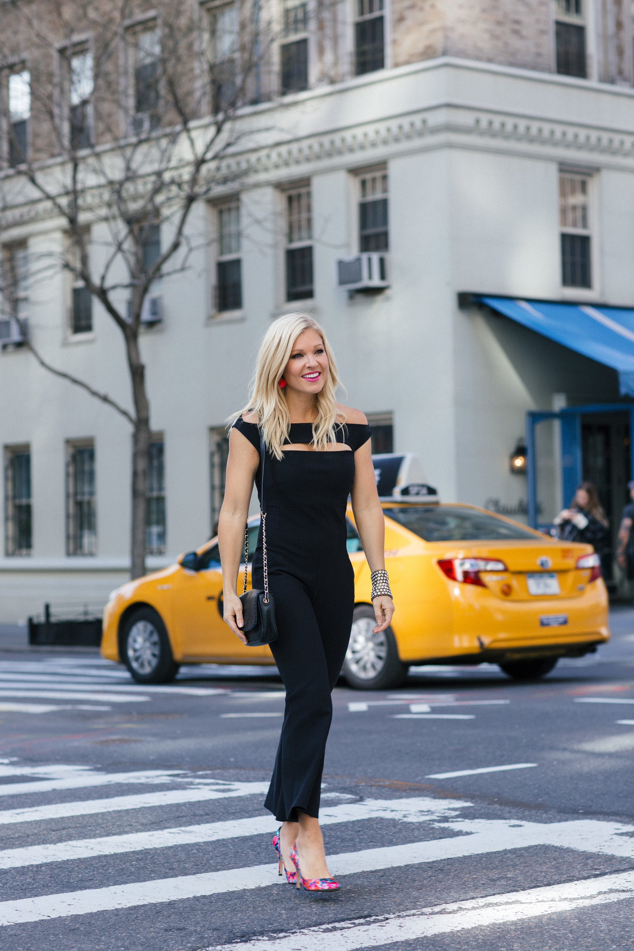Anna Kooiman New York City Fashion 5th Avenue black jumpsuit la petite robe west village nyc nine west tory burch Lydia Hudgens AnnaKooiman.com