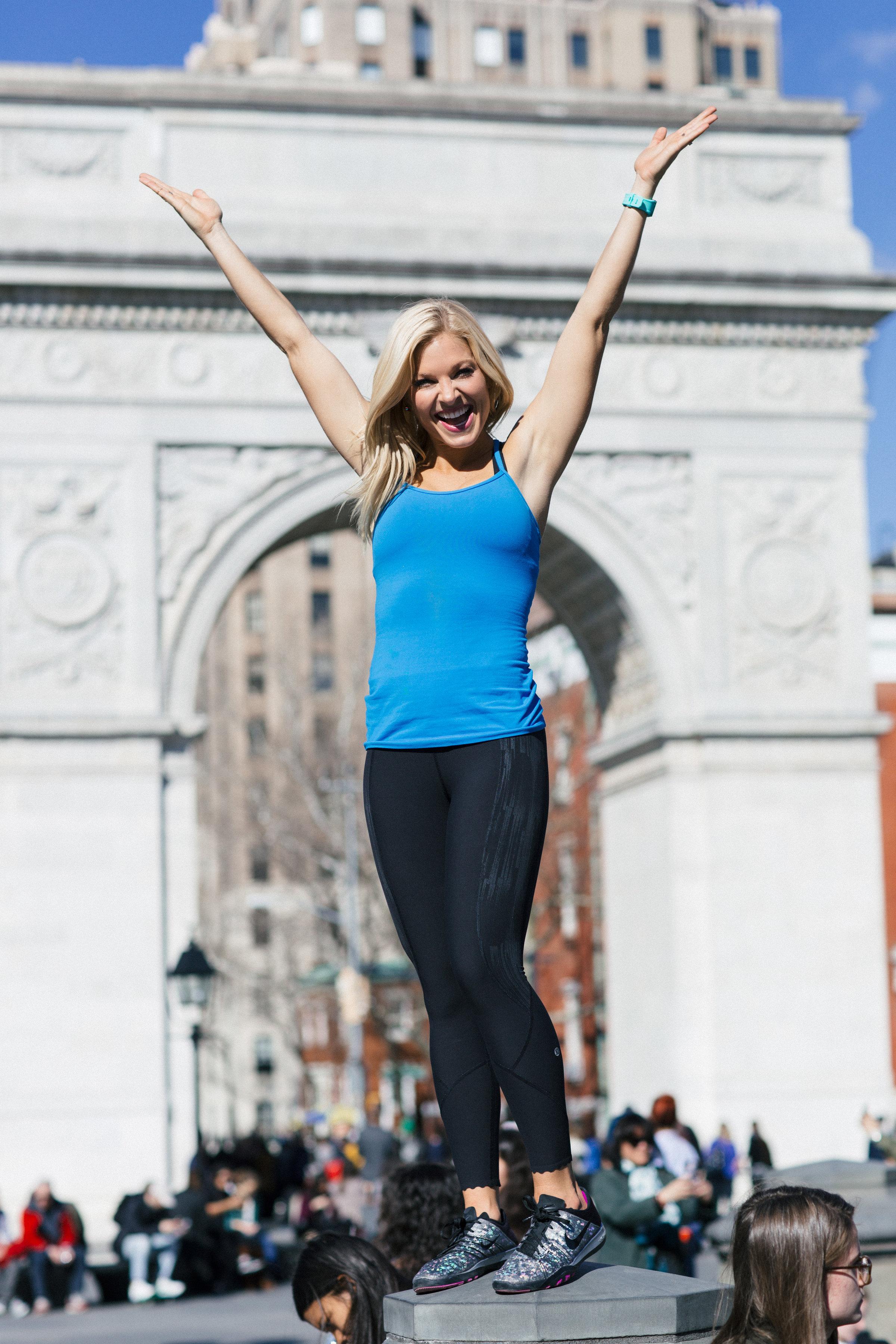 Anna Kooiman NYC New York City Fitness Washington Square Park Lydia Hudgens fashion