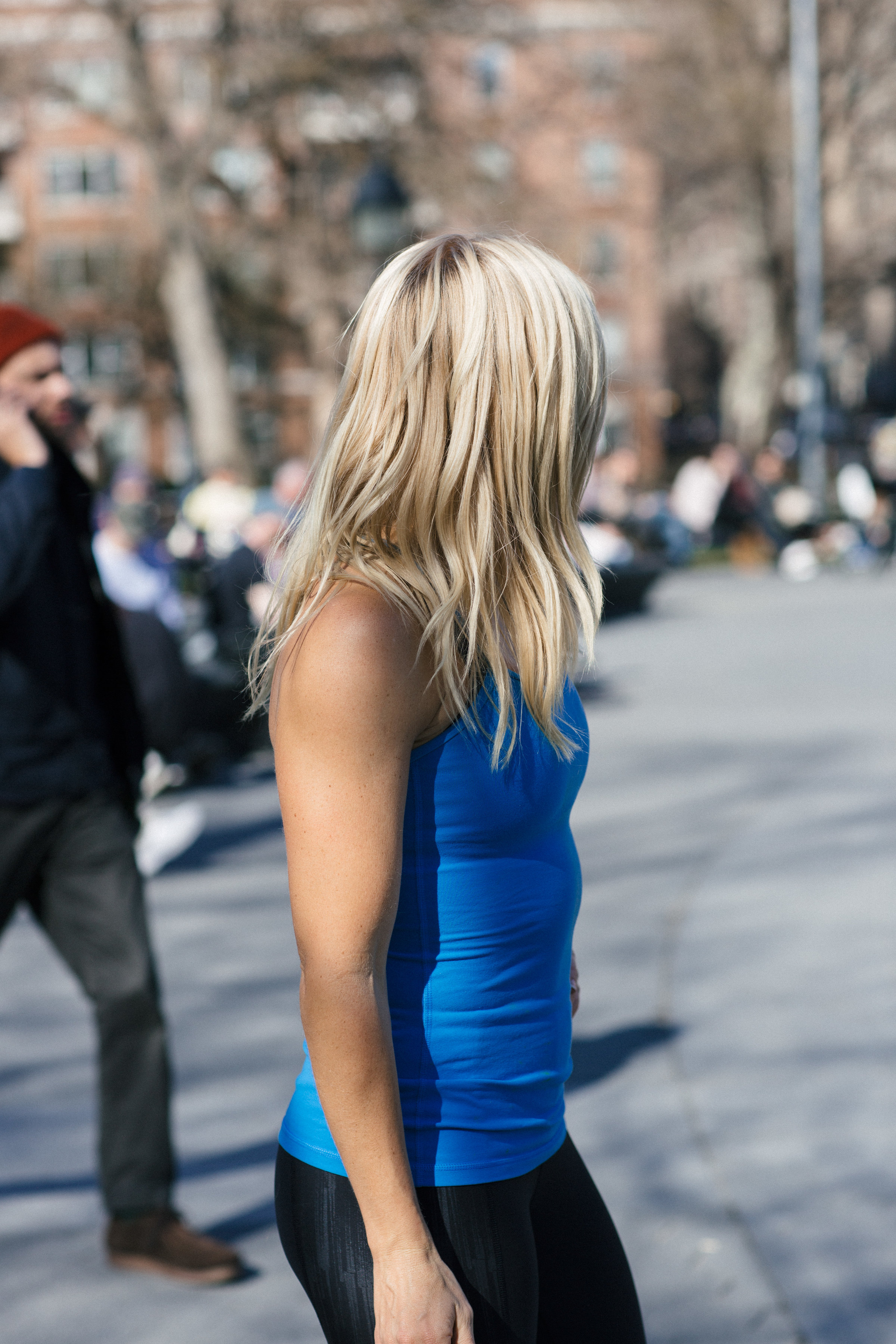 Anna Kooiman Washington Square Park New York City Fitness Fashion Lydia Hudgens